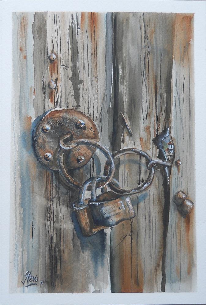 """Through the Keyhole"" original fine art by Martin Stephenson"