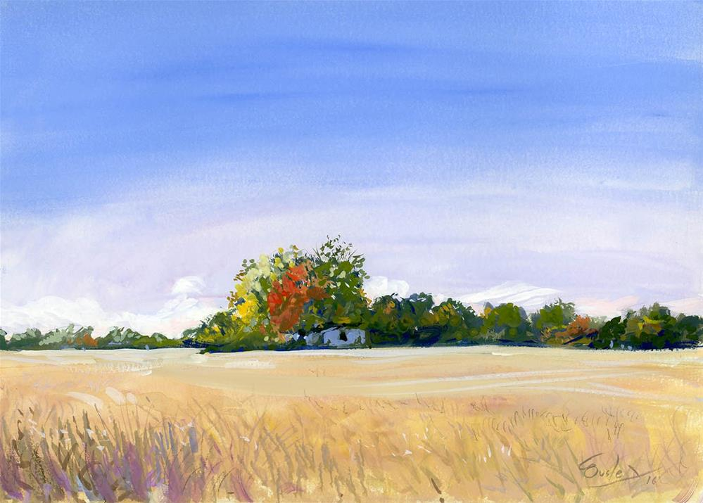 """""""October Afternoon"""" original fine art by Chris Ousley"""