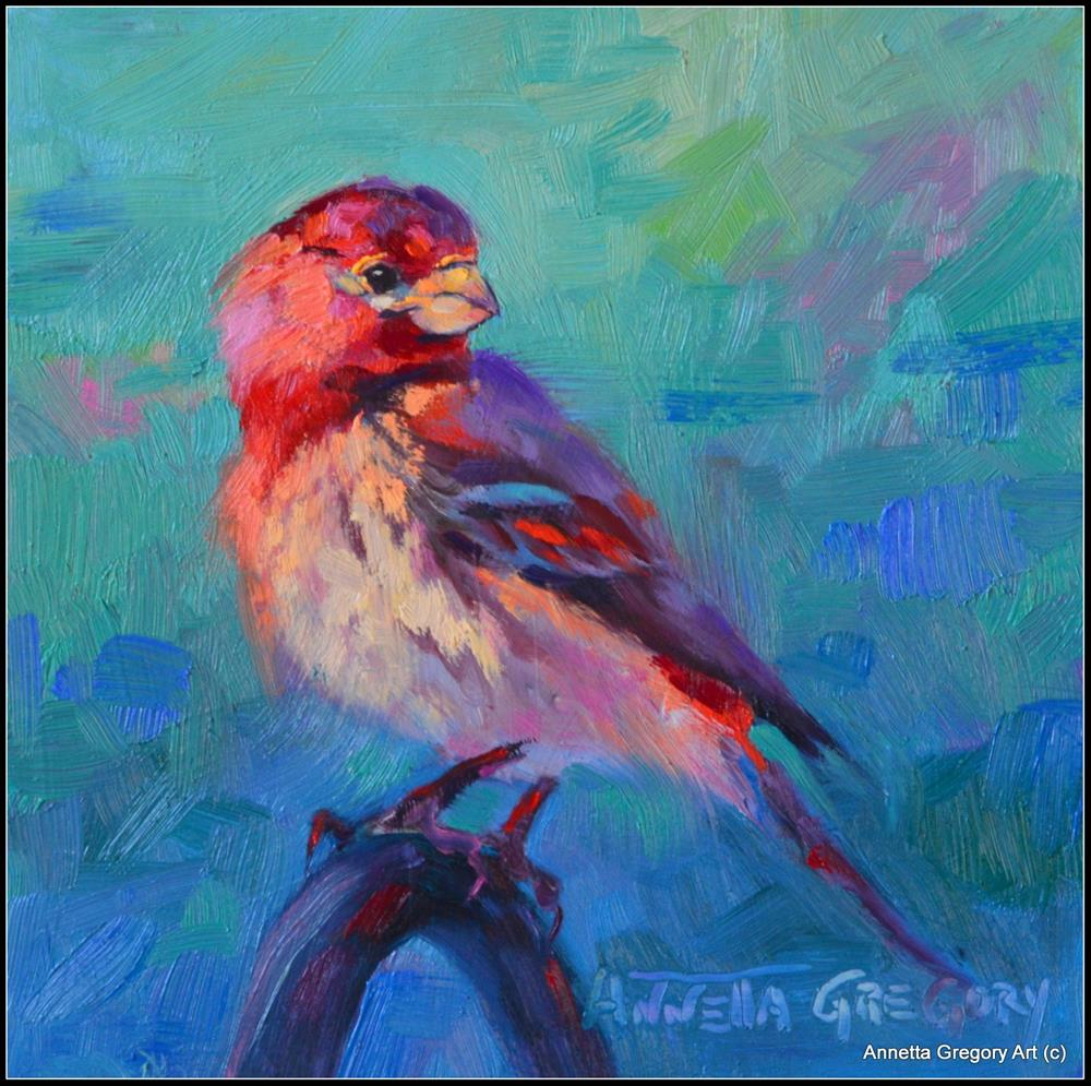"""A Perfect Perch"" original fine art by Annetta Gregory"