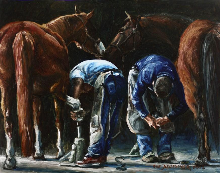 """""""Farriers"""" original fine art by Sue Deutscher"""