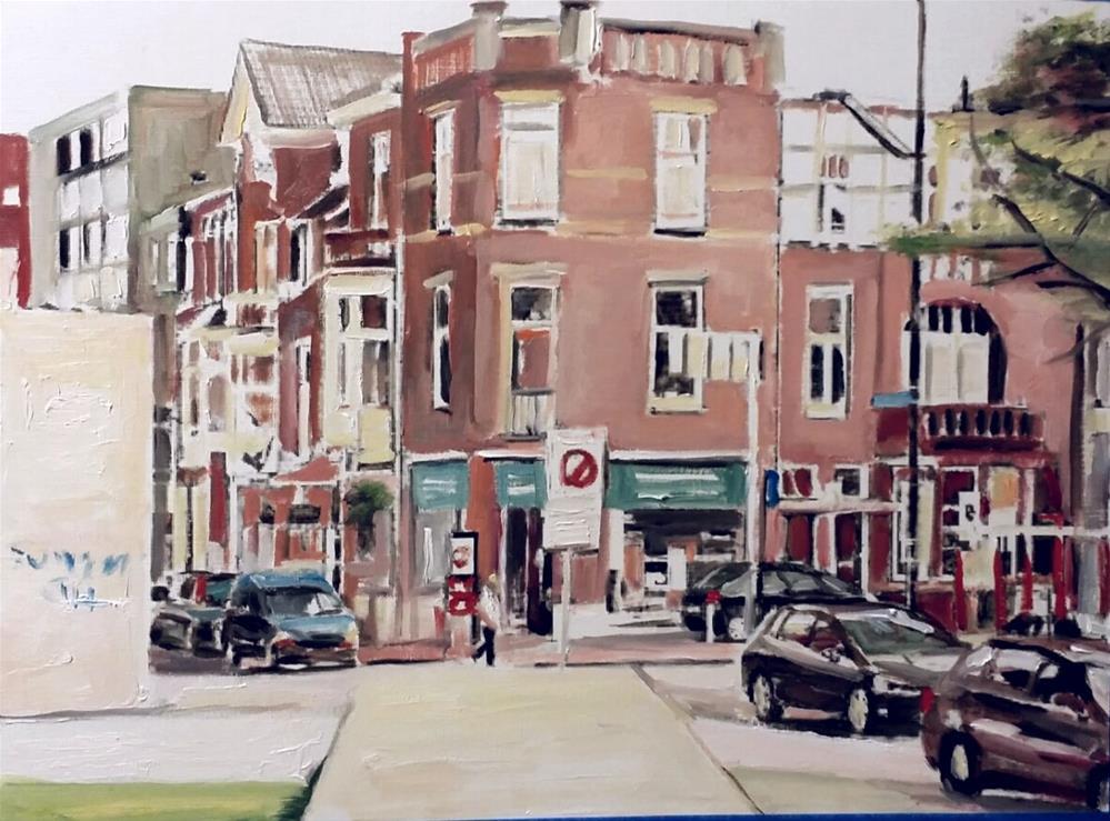 """""""The Block (12 X 16 Oil on canvas paper - no frame)"""" original fine art by Ramon DelRosario"""