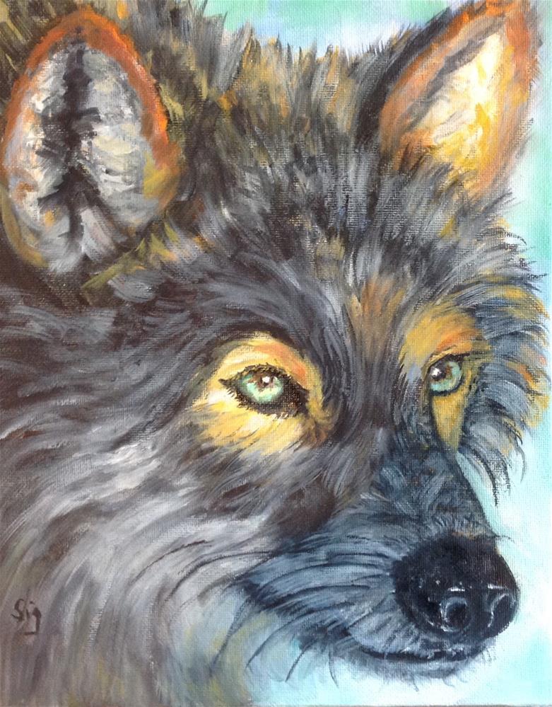 """Intense"" original fine art by Sigrid Victor"