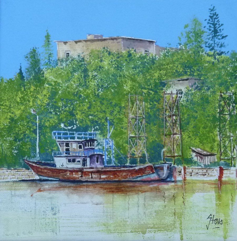 """The Rusty Trawler"" original fine art by Martin Stephenson"