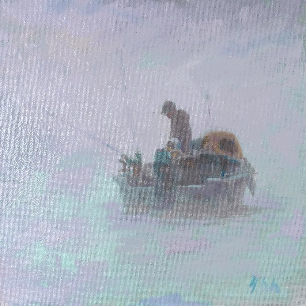 """Fog"" original fine art by Yuehua He"