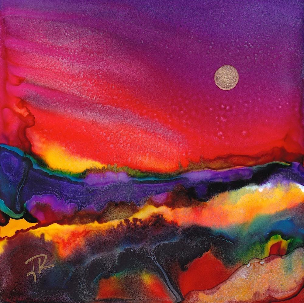"""Dreamscape No. 294"" original fine art by June Rollins"