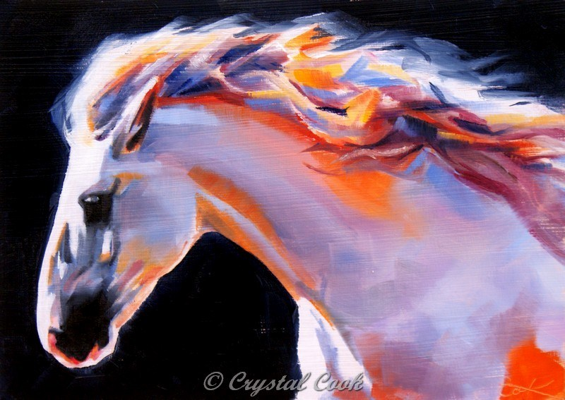 """Beauty, Strength, and Grace"" original fine art by Crystal Cook"