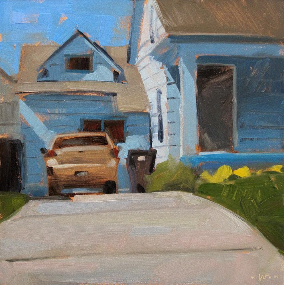 """""""Blue Shadows"""" original fine art by Carol Marine"""