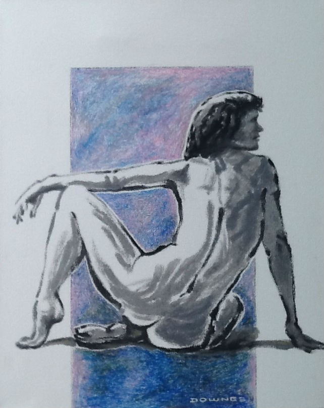 """342 LIFE DRAWING 38"" original fine art by Trevor Downes"