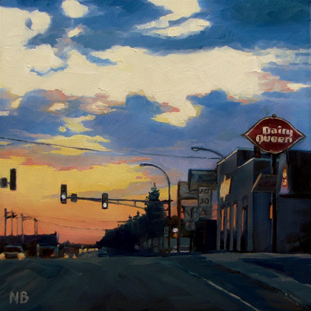 """""""Highway Ten"""" original fine art by Nora Bergman"""
