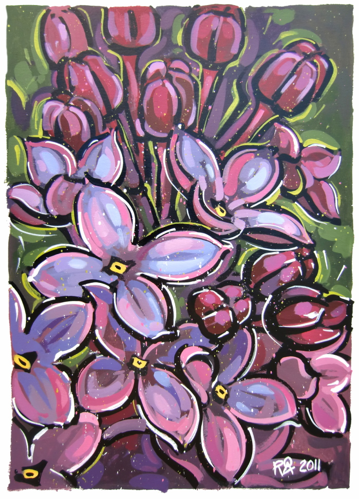 """Lilac 2"" original fine art by Roger Akesson"