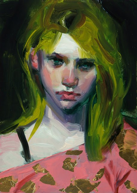"""Black, Gold, and Pink"" original fine art by John Larriva"
