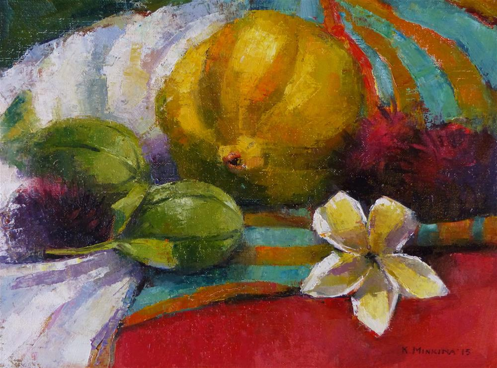 """Orchard Harvest#2"" original fine art by Katya Minkina"