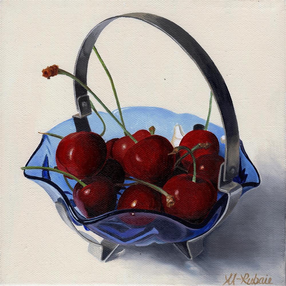 """""""Bowl of Cherries"""" original fine art by Catherine Al-Rubaie"""