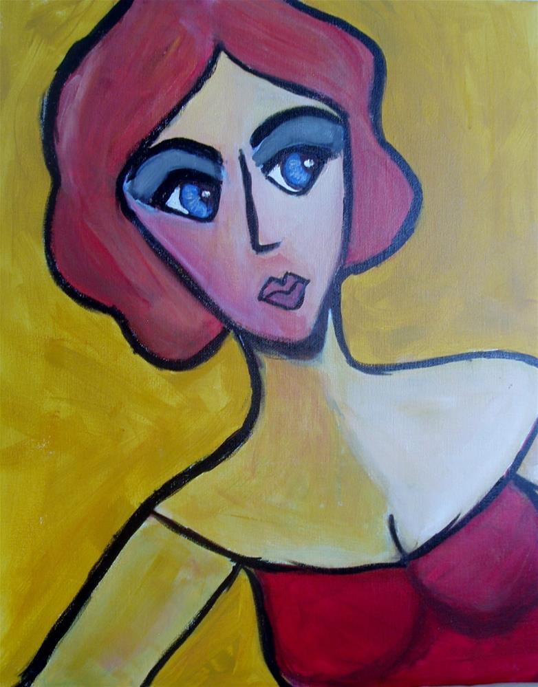 """""""the Red Head"""" original fine art by Gerri Obrecht"""
