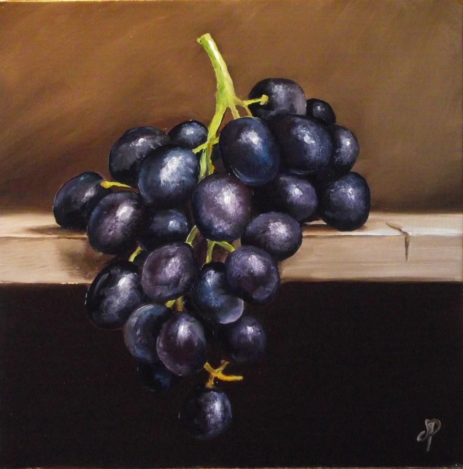 """Grapes"" original fine art by Jane Palmer"