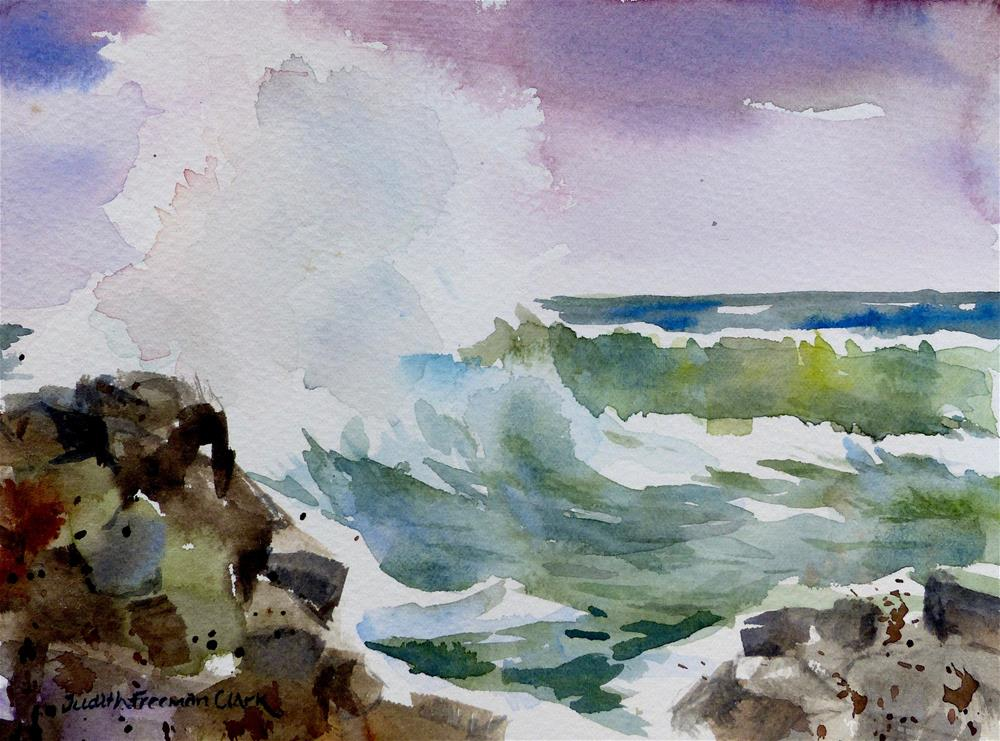 """On the Rocks"" original fine art by Judith Freeman Clark"
