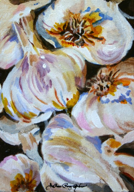 """Garlic Festival 2014"" original fine art by JoAnne Perez Robinson"