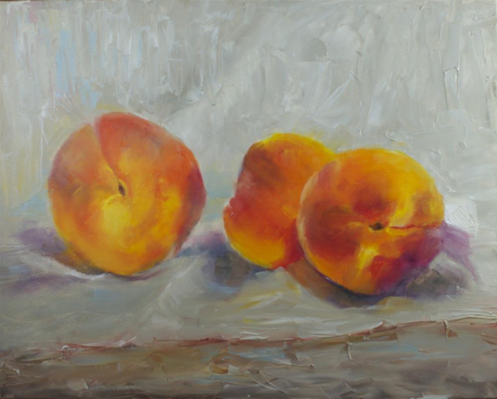 """Soft Peaches: Study"" original fine art by Sue Churchgrant"