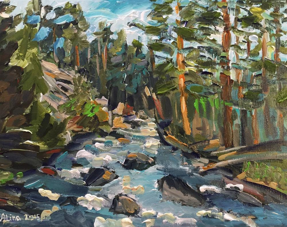 """""""Creek in Colorado"""" original fine art by Alina Vidulescu"""