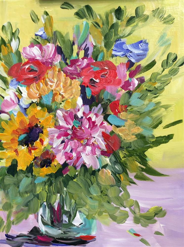 """Just Because Bouquet"" original fine art by Molly Rohrscheib Hathaway"