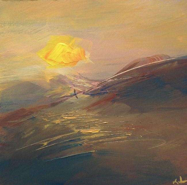 """Staring at the Sun"" original fine art by David Kuhn"