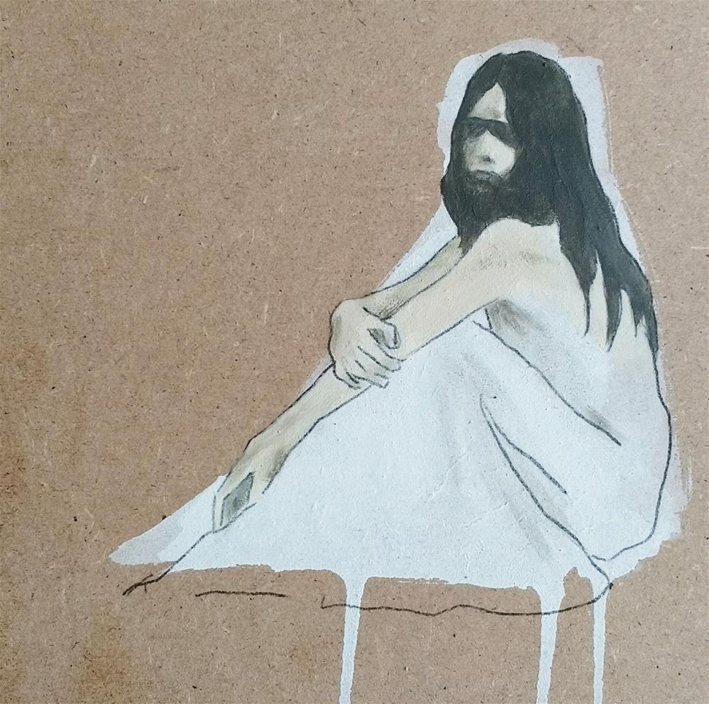 """""""Snow White 2"""" original fine art by Sandra Woerner"""