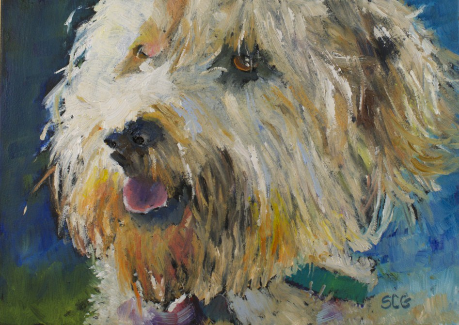 """""""Attack Dog"""" original fine art by Sue Churchgrant"""