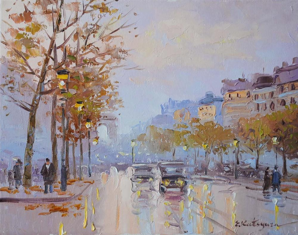 """Paris Morning"" original fine art by Elena Katsyura"