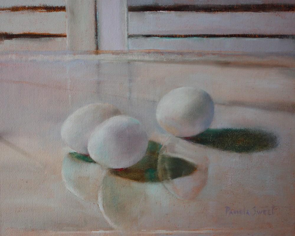 """""""White on White"""" original fine art by Pamela Sweet"""