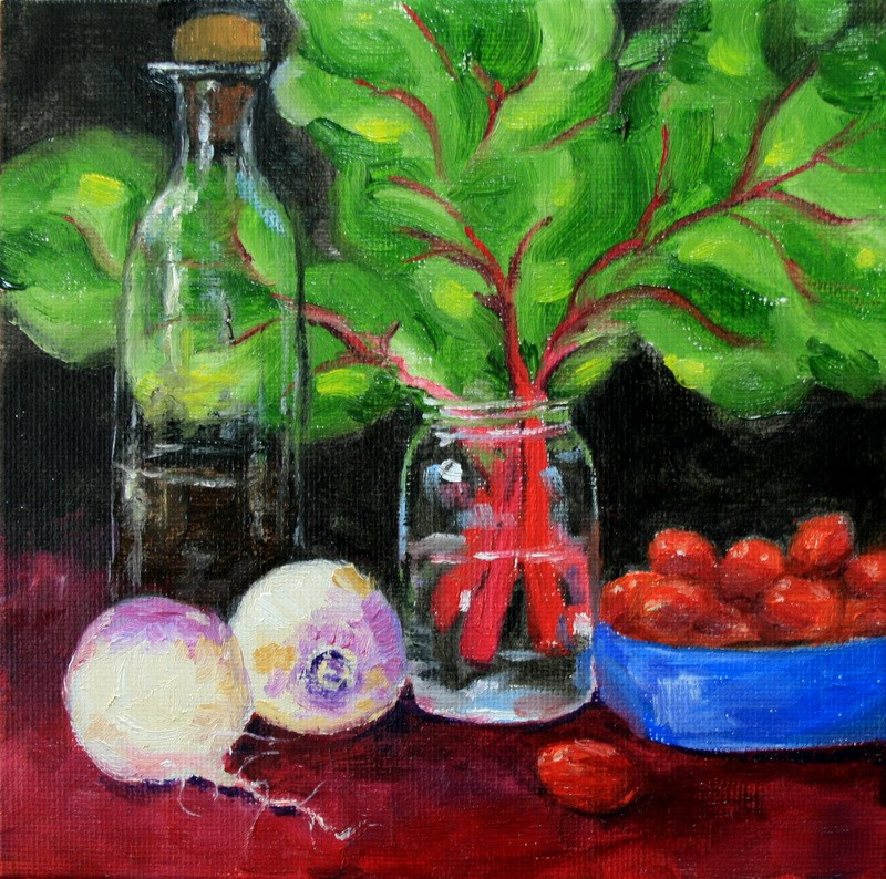 """Fresh From the Garden"" original fine art by Jean Nelson"