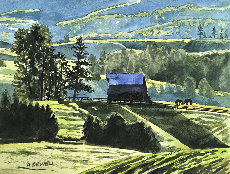 """Country Morning Glow"" original fine art by Andy Sewell"