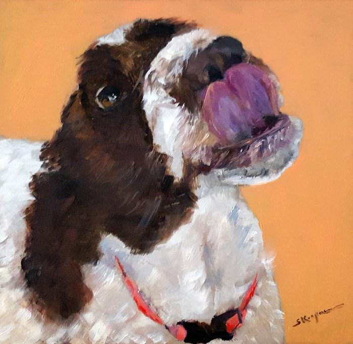 """YUM…Good Peanut Butter!"" original fine art by Shelley Koopmann"