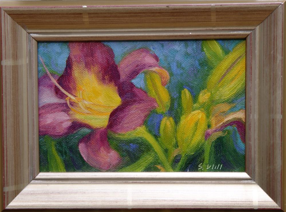 """Lily 4x6"" original fine art by Sharon Will"