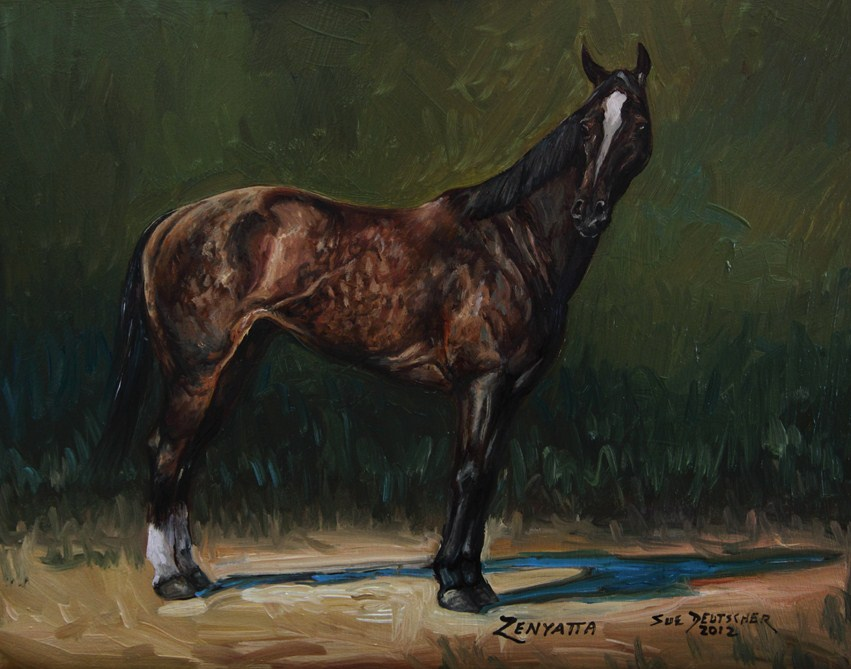 """Zenyatta"" original fine art by Sue Deutscher"