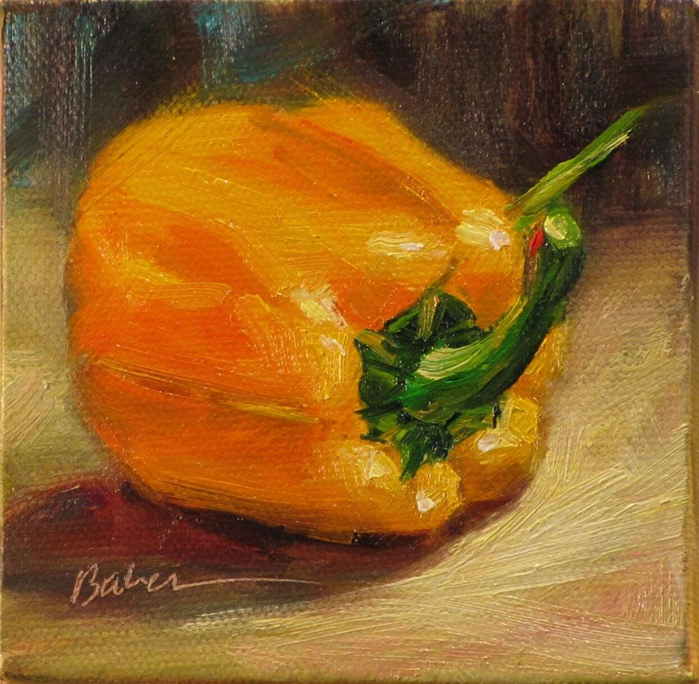 """Orange Pepper"" original fine art by gabriele baber"