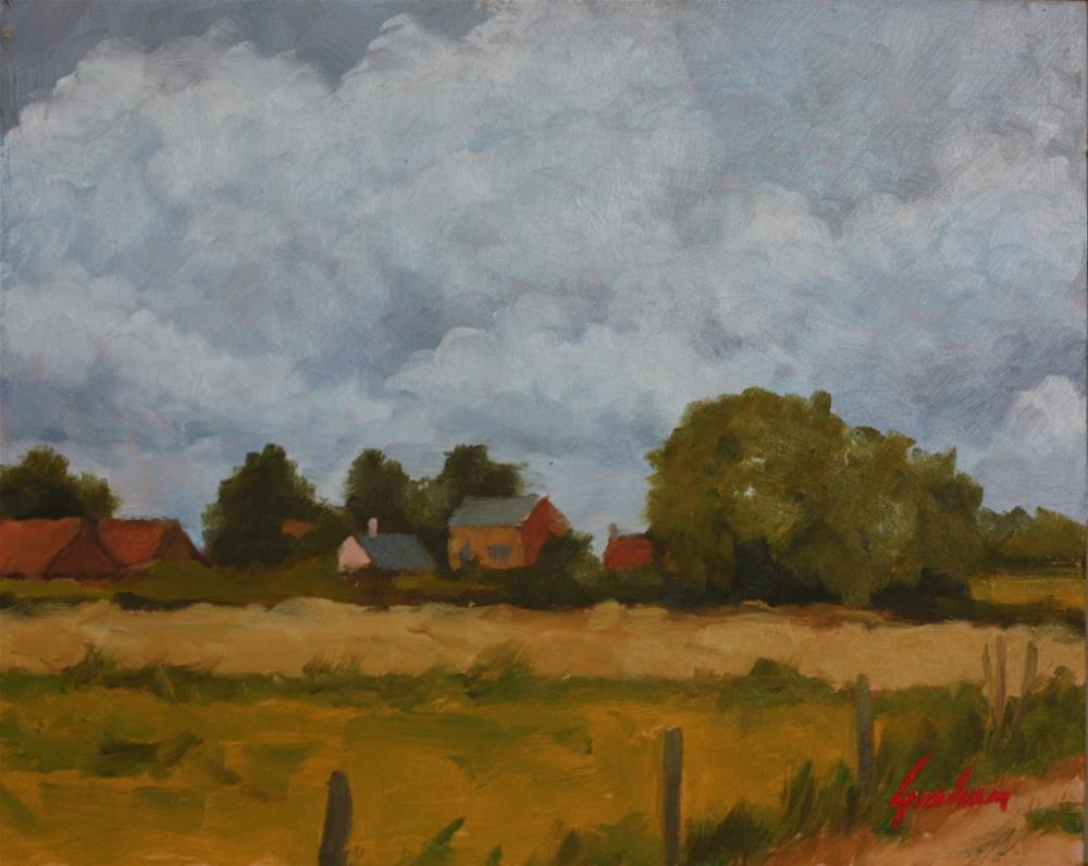 """Summer fields"" original fine art by Graham Townsend"