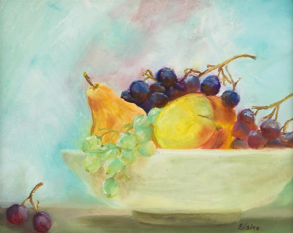 """Summer Fruits"" original fine art by Elaine Ford"