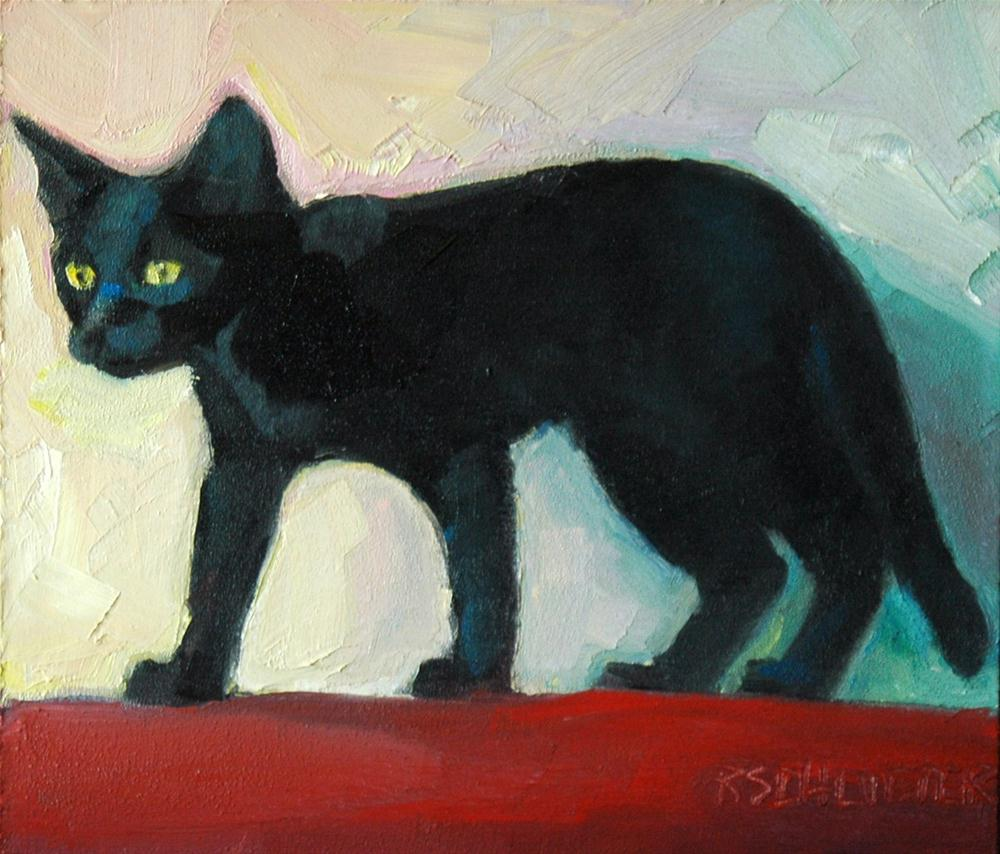"""Otis Kitten"" original fine art by Rachel K Schlueter"