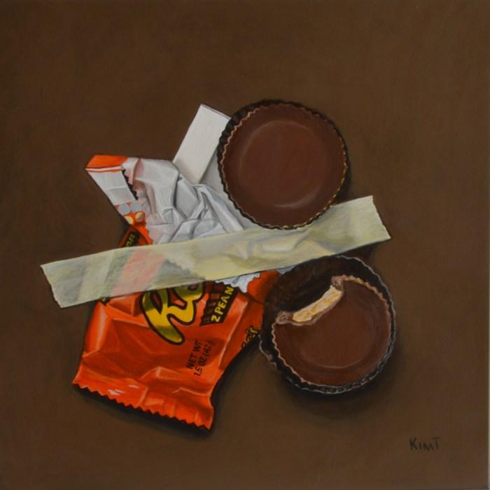 """In Case of Chocolate Emergency 7"" original fine art by Kim Testone"