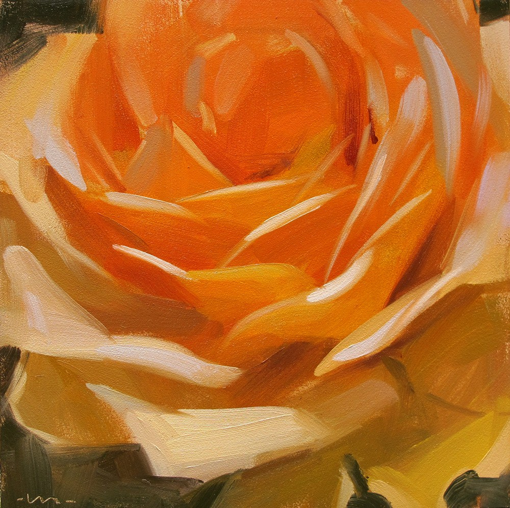 """Rosiness"" original fine art by Carol Marine"