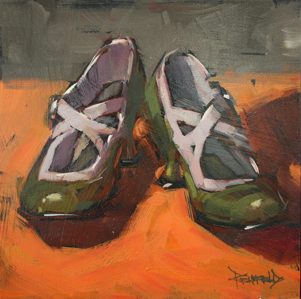 """Shoe Fiend! #4 Fluevogs"" original fine art by Cathleen Rehfeld"