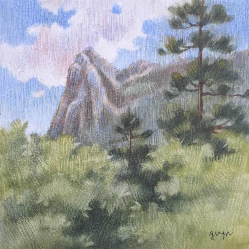 """Lily Rock"" original fine art by Ginger Pena"