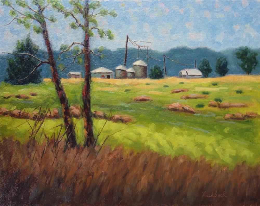 """Riverlands Farm Study"" original fine art by Daniel Fishback"