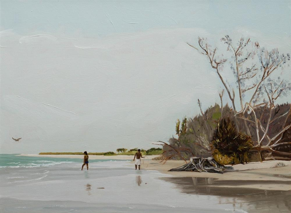 """On Ft. DeSoto Beach"" original fine art by Tim Gier"