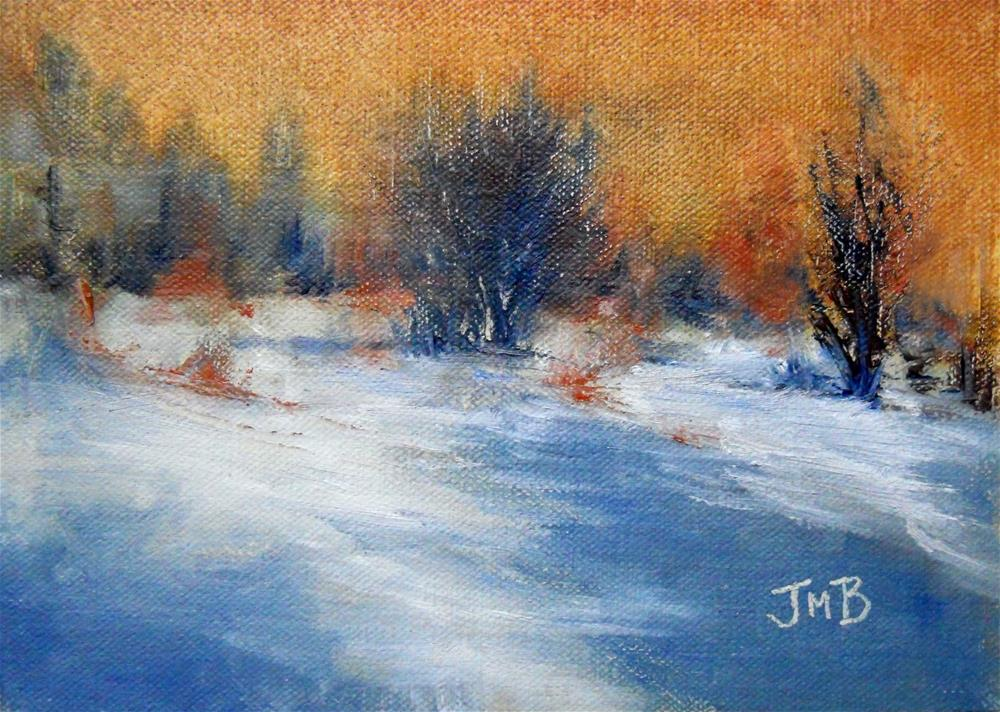 """Winter Glow"" original fine art by Jill Brabant"