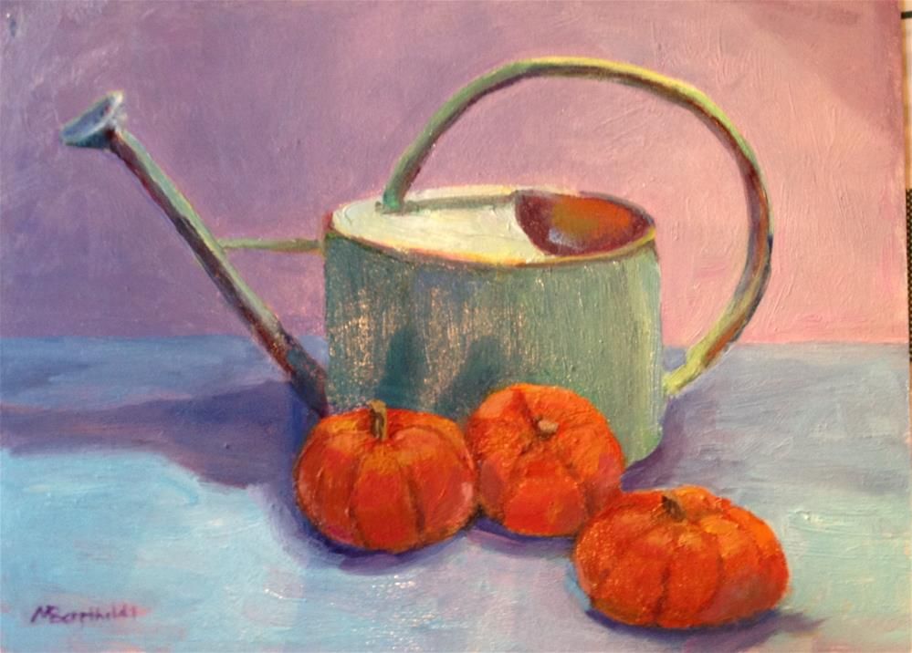 """Watering Can"" original fine art by Marcia Bergtholdt"