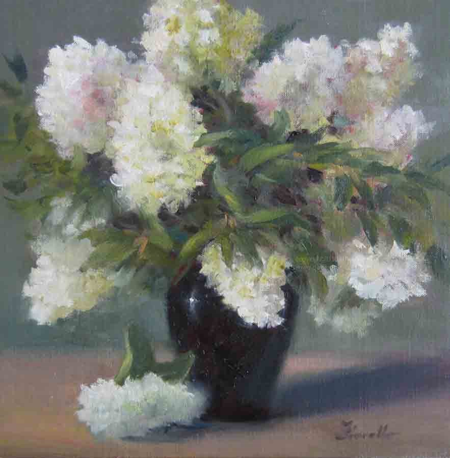 """""""Hydrangea Harmony"""" original fine art by Pat Fiorello"""