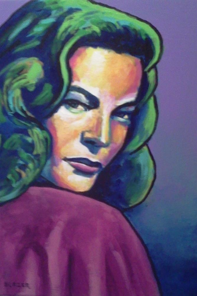 """Lauren Bacall"" original fine art by Stuart Glazer"