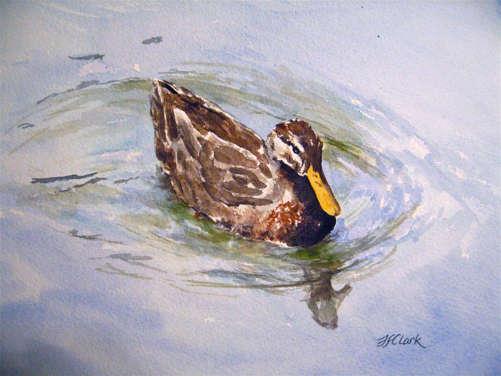 """Female Duck, study"" original fine art by Judith Freeman Clark"