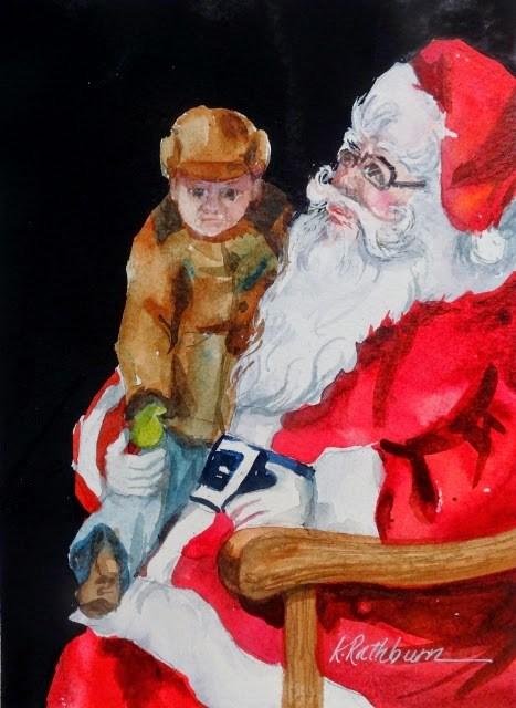 """Christmas Cheer VII"" original fine art by Kathy Los-Rathburn"